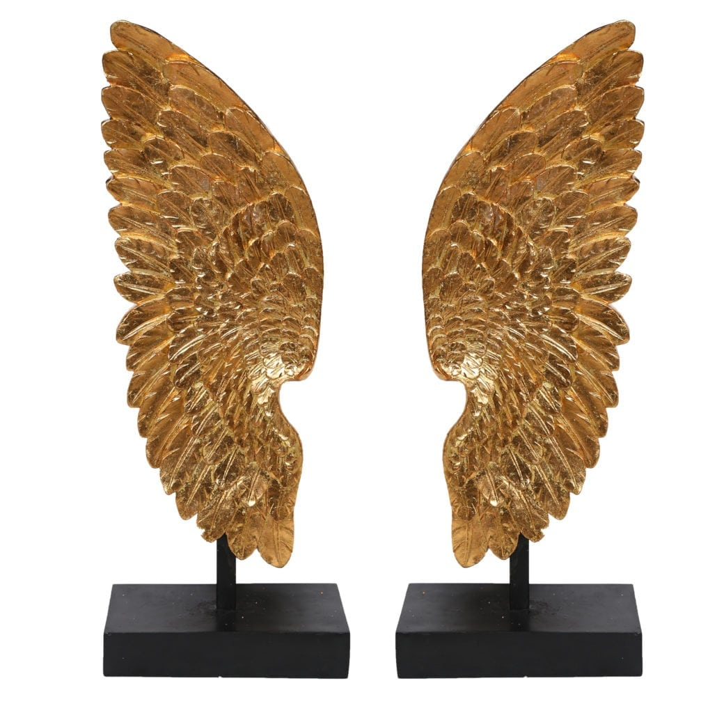 Divine Tall Freestanding Angel Wing Set presented  in finest details & glory that can be as a piece or pair to form a set, a chef d'oeuvre to feature in your secluded personal temple.