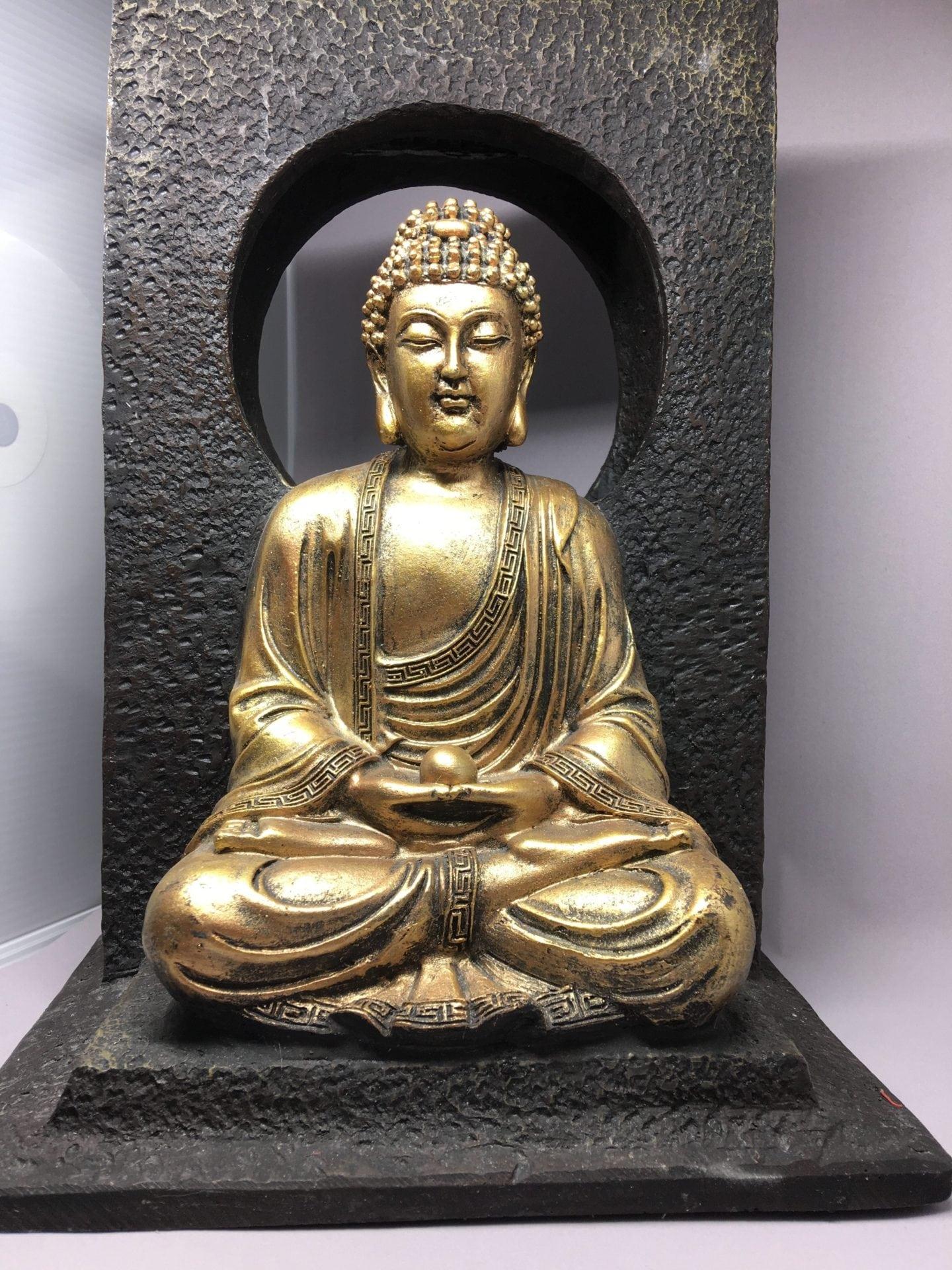 Wisdom Buddha Water Feature Rain Drop Waterfall Effect